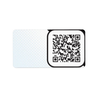 Put your Scannable QR code on these Address Label