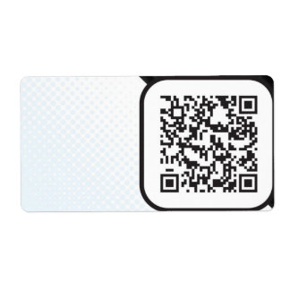 Put your Scannable QR code on these Shipping Label