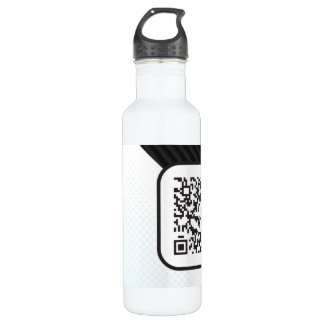 Put your Scannable QR code on these 24oz Water Bottle