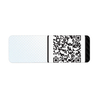 Put your Scannable QR code on these Return Address Label