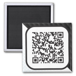 Put your Scannable QR code on these Square Magnet