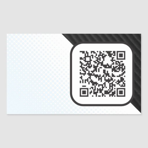 Put your Scannable QR code on these Rectangular Stickers