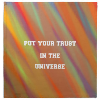 Put your trust in the universe napkin