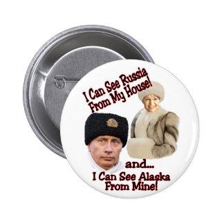 Putin and Palin 6 Cm Round Badge