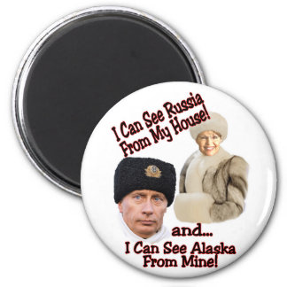 Putin and Palin Magnet