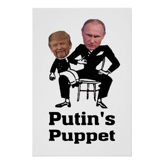 Putin and Puppet Poster