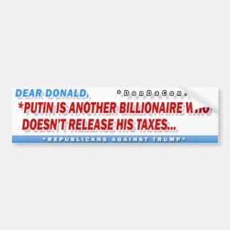 Putin Billionaire Release Bumper Sticker