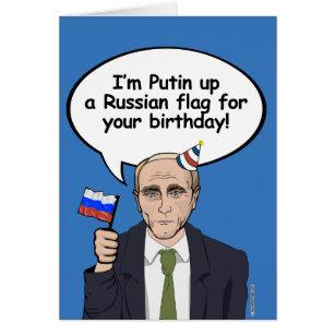 Russian birthday cards invitations zazzle putin birthday card im putin up a russian flag m4hsunfo