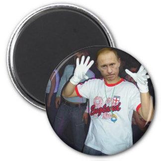 Putin Parties 6 Cm Round Magnet
