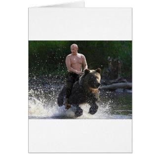 Putin rides a bear! card