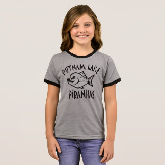 Putnam Lake Piranhas Ringer Tee Girls