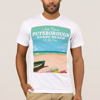 Putsborough Sands Beach Devon travel poster T-Shirt