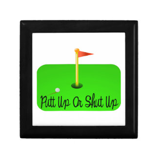 Putt Up Or Shut Up Golf Gift Box