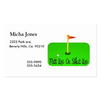 Putt Up Or Shut Up Golf Pack Of Standard Business Cards