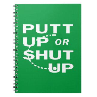 Putt Up Spiral Notebook