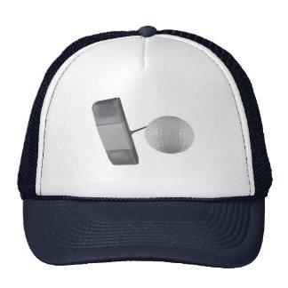 Putter and Golf Ball Cap