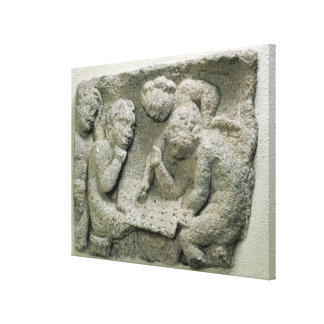 Putti playing latronculi gallery wrapped canvas