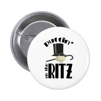 Puttin Ritz 2 Inch Round Button