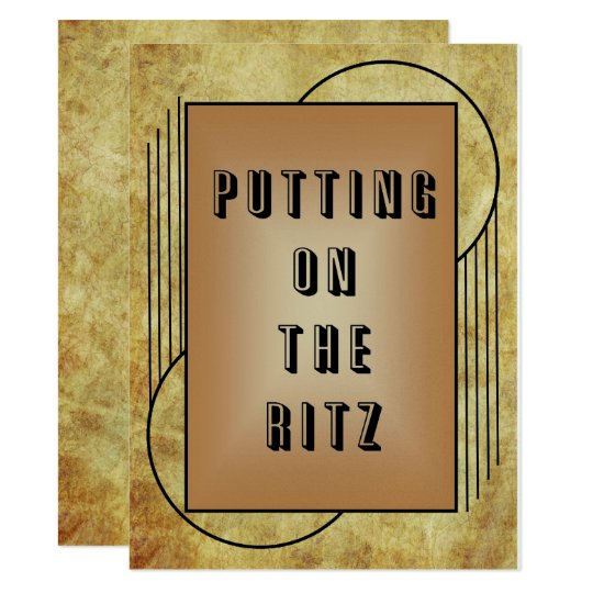 Putting on the Ritz Card