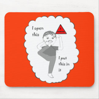 Putting your foot in mouth joke products mouse mat