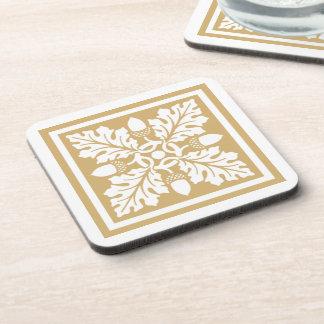 Putty Acorn and Leaf Tile Design Coaster