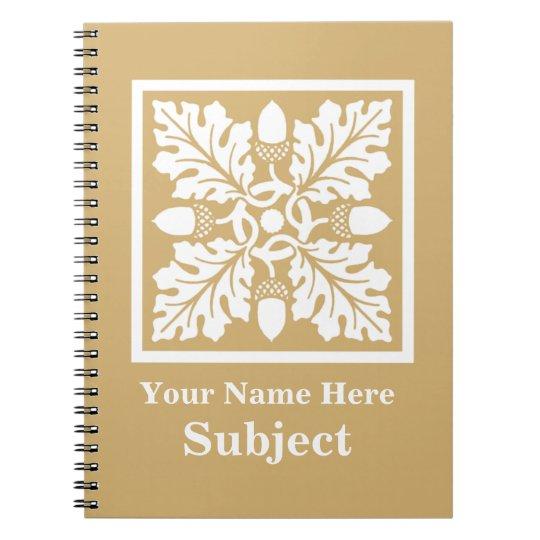 Putty Acorn and Leaf Tile Design Notebooks