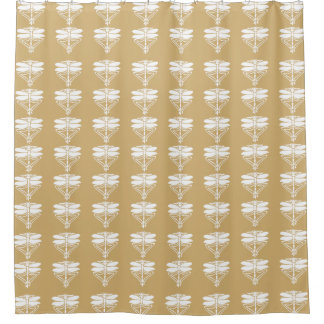 Putty Arts and Crafts Dragonflies Shower Curtain