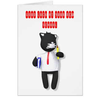 Putty Cat back to school Card