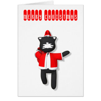 Putty Cat Cute christmas Card design