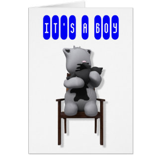 putty cat, IT'S A BOY Greeting Card