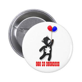 putty cat It's my Birthday Badge Pins