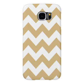 Putty Neutral Chevrons Samsung Galaxy S6 Cases