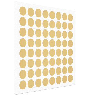 Putty Neutral Dots Stretched Canvas Print