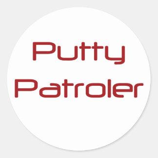 Putty Patroler Round Sticker