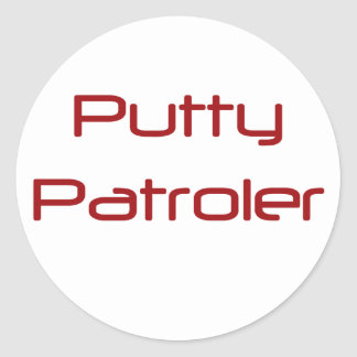 Putty Patroler Classic Round Sticker