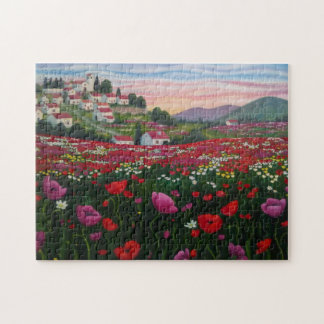 Puzle field of poppies jigsaw puzzle