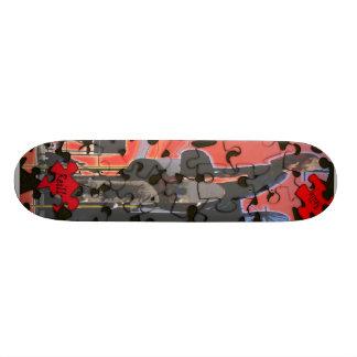 puzzle 21.6 cm skateboard deck