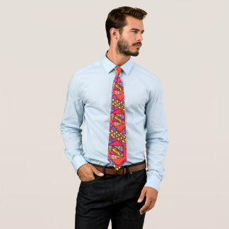 Puzzle abstract drawing hipster boho artistic tie