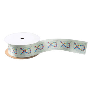 Puzzle Awareness Ribbon Angel Customized Ribbons Satin Ribbon