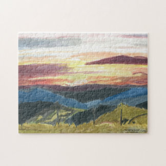 """Puzzle, """"Bell Springs Sunrise"""" by ALarsenArtist Jigsaw Puzzle"""