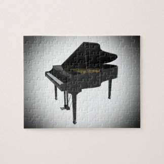 Puzzle: Black Grand Piano Jigsaw Puzzle