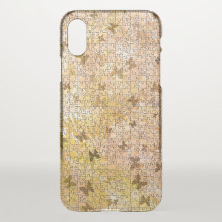 Puzzle Butterflies and Daisies-Browns by STaylor iPhone X Case
