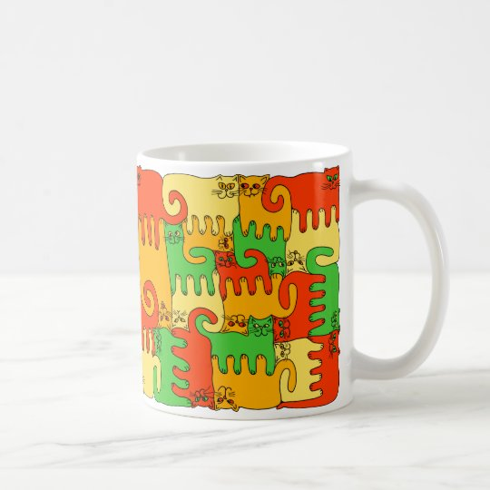 "Puzzle Cats ""Autumn Leaves"" Coffee Mug"