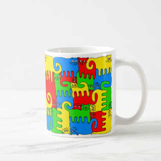 "Puzzle Cats ""Radiant"" Coffee Mug"