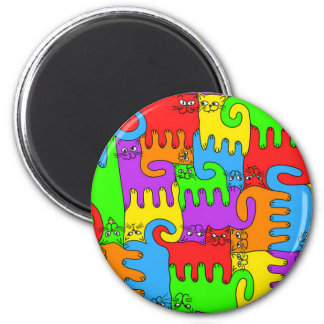 "Puzzle Cats ""Rainbow"" 1 magnet"