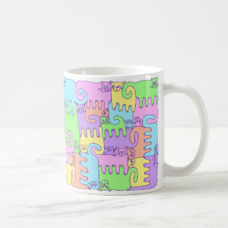"Puzzle Cats ""Rainbow Fluffy"" Coffee Mug"