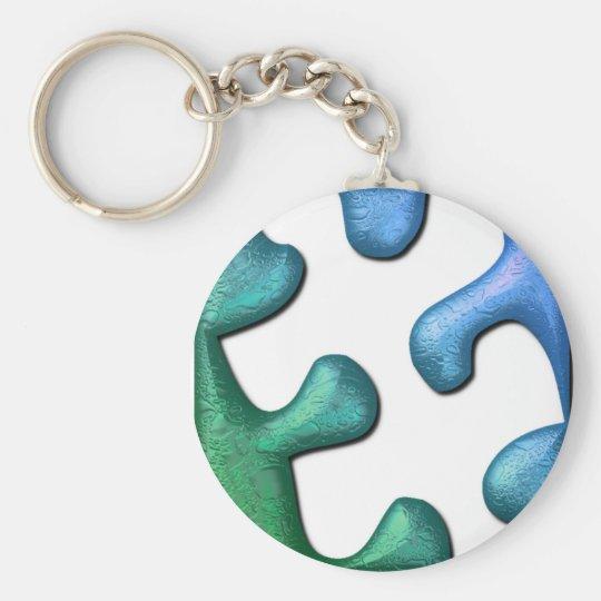 Puzzle Design Keychain