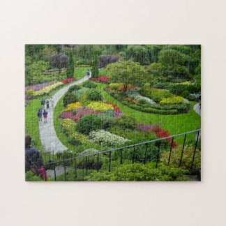 Puzzle, flower garden jigsaw puzzle