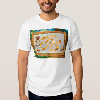 Puzzle game with jungle theme tee shirt