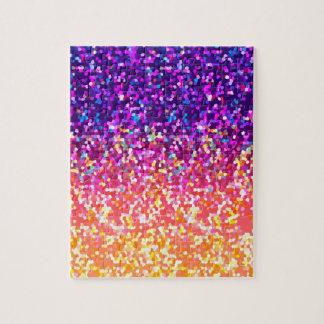 Puzzle Glitter Graphic Background